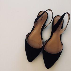 Merona Black Flats - Size 8 1/2